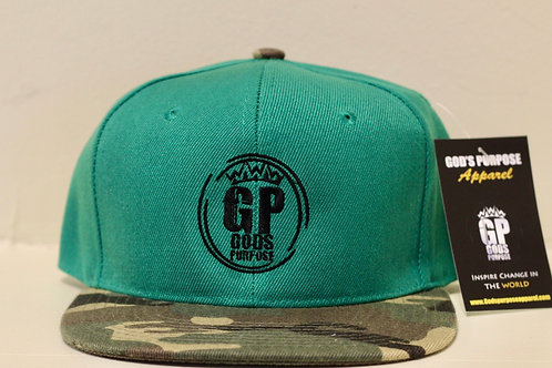 Green & Black Camouflage Hat