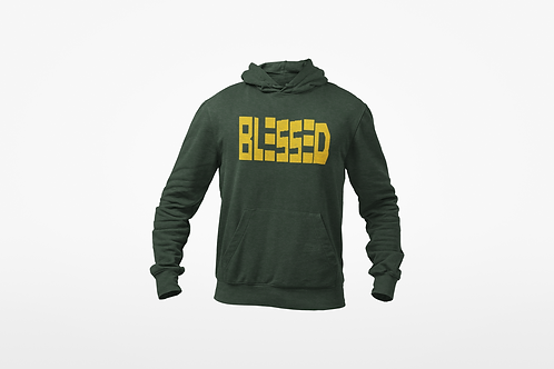 Green & Yellow Blessed Hoodie