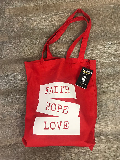 Faith, Hope & Love Bag - Red