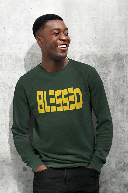 Green and Yellow Blessed Sweatshirt