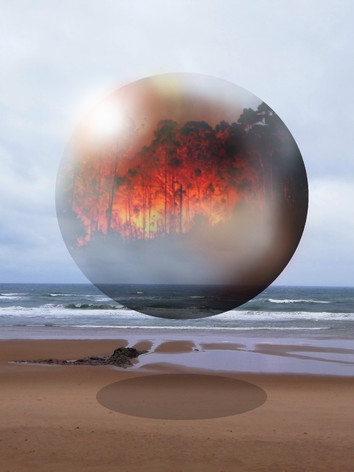 Time Bubble Beach Fire