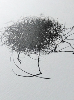 wind drawing with leg
