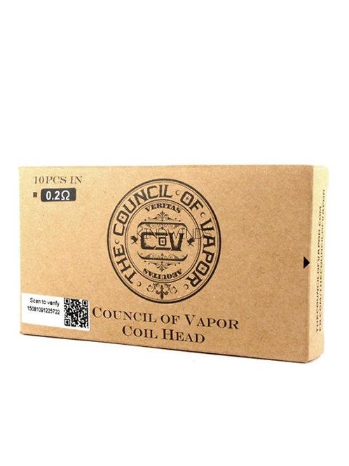 Council of Vapor 0.2 or 0.8 Ohm Coils