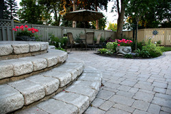 Alternative Landscaping stone steps