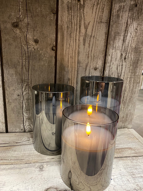 Lumino Wax LED Glass Candles