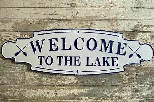 Lake Metal Welcome Sign