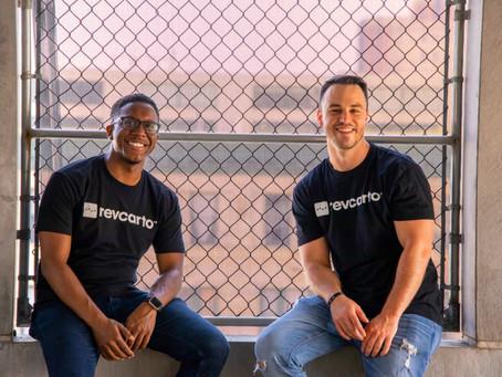 Founders of the marketing company Revcarto, Jason Bramble and Chris Davis.