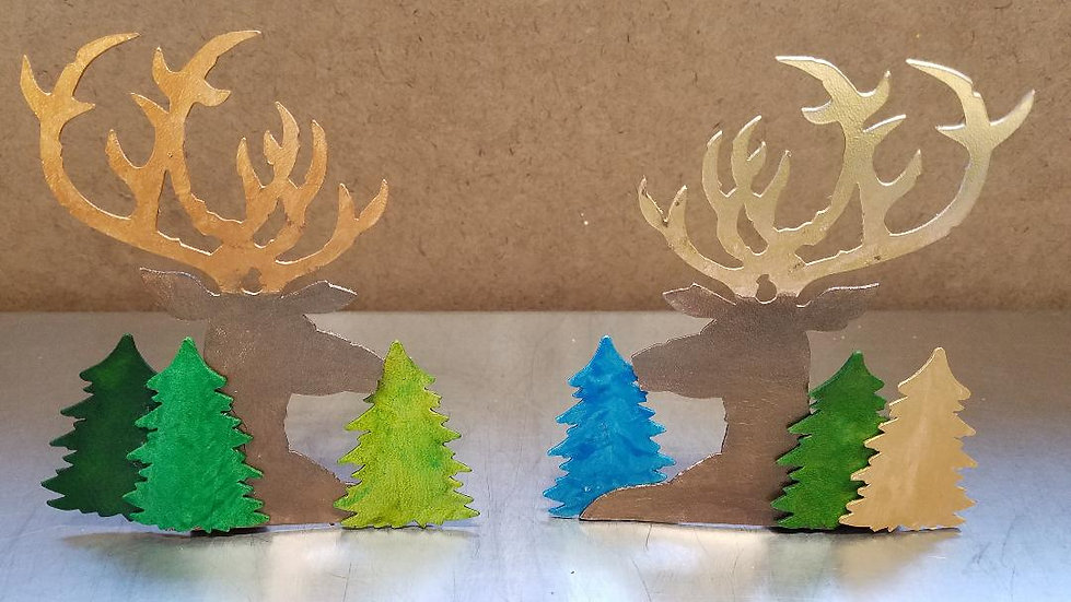 Elk Holiday Ornaments
