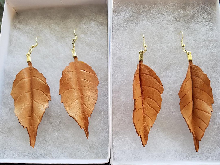 Natural Leather Earing