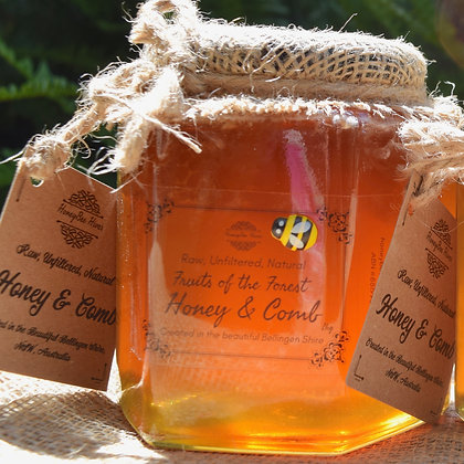 1kg Artisan Honey & Honeycomb in Glass Jar