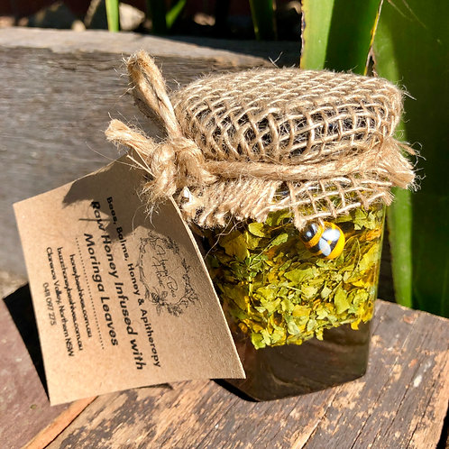 250g Raw, Artisan Honey, Solar-Infused with Moringa Leaves