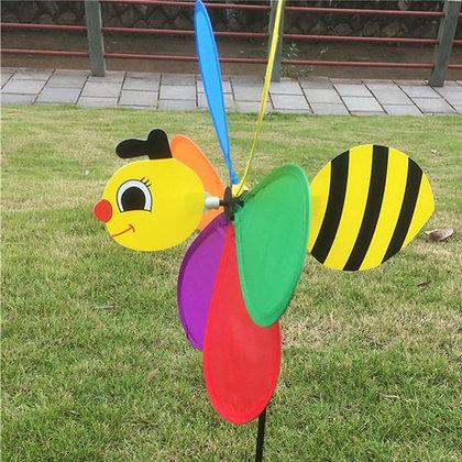 3D Large Bee Windmill Wind Spinner Whirligig Yard Garden Decor