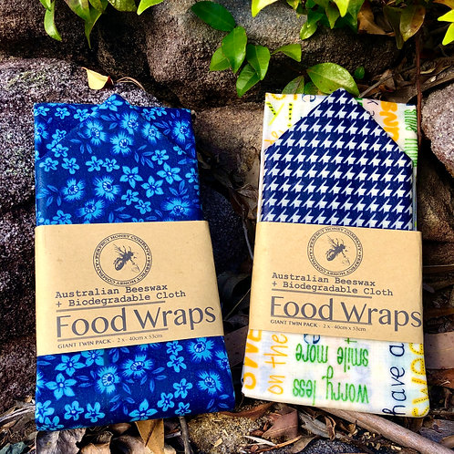 Beeswax Wraps Giant 2 Pack