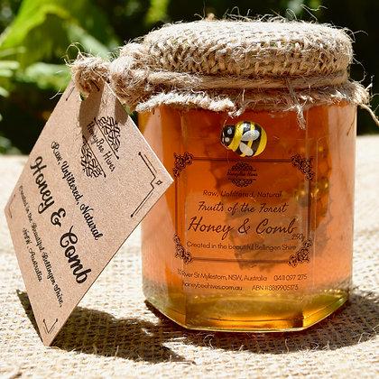 250g Artisan Honey & Honeycomb in Glass Jar