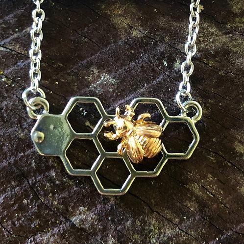 Bee & Comb Pendant