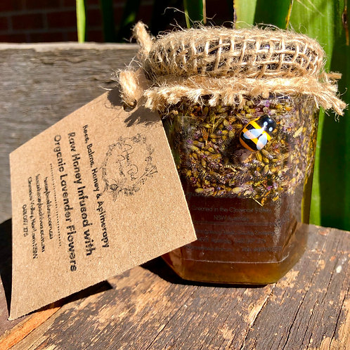 500g Raw, Artisan Honey, Solar-Infused with Organic Lavender Flowers