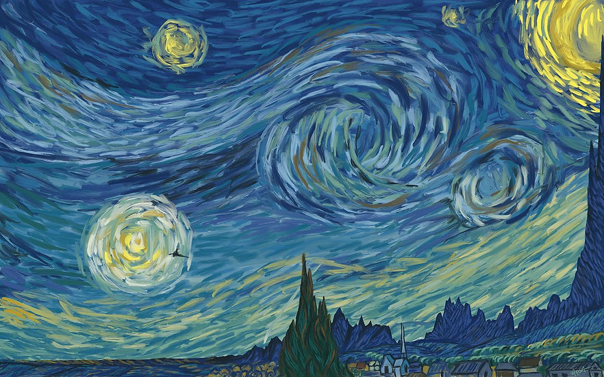 BTC Starry Night   Inspired by Van Gogh's 'Starry Night'