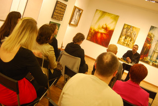 "Lecture of Dr.Ghurba in gallery ""Kunstraum"" (Vienna)"