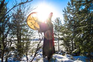 Встреча Зимнего Солнцестояния с шаманом Тарасом Журбой в Великом Новгороде