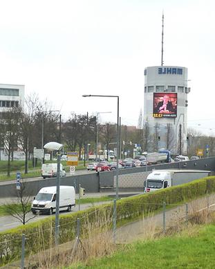 LED Display Standort am Pragsattel Stutt