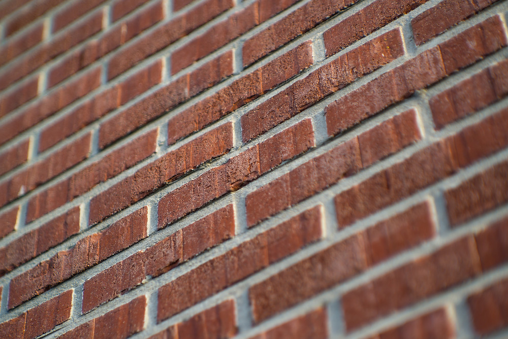 New brick faced party wall