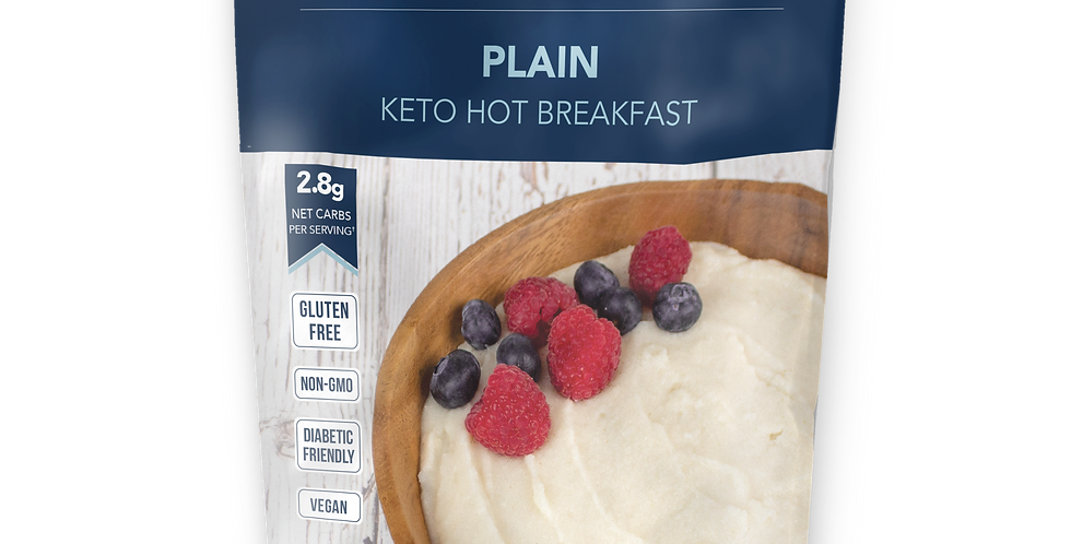 Keto and Co Plain Keto Hot Breakfast - 5.6 oz - 2.8g Net Carbs
