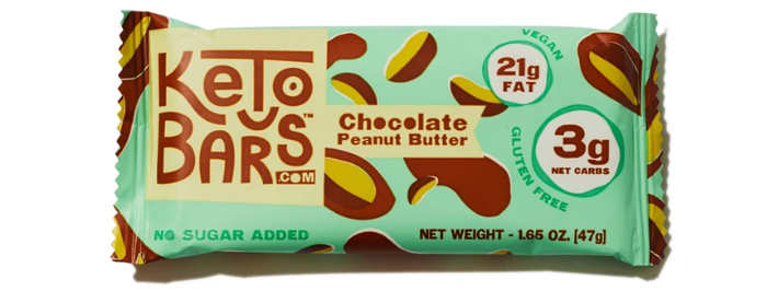 Keto Bars Chocolate Peanut Butter - 1.65 oz - 3g Net Carbs
