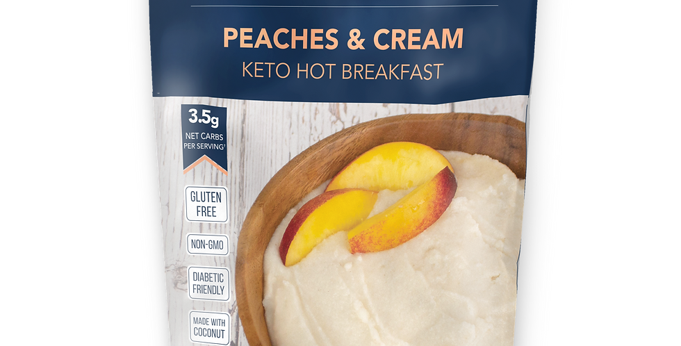 Keto and Co Peaches & Cream Keto Hot Breakfast - 7.6 oz - 3.5g Net Carbs