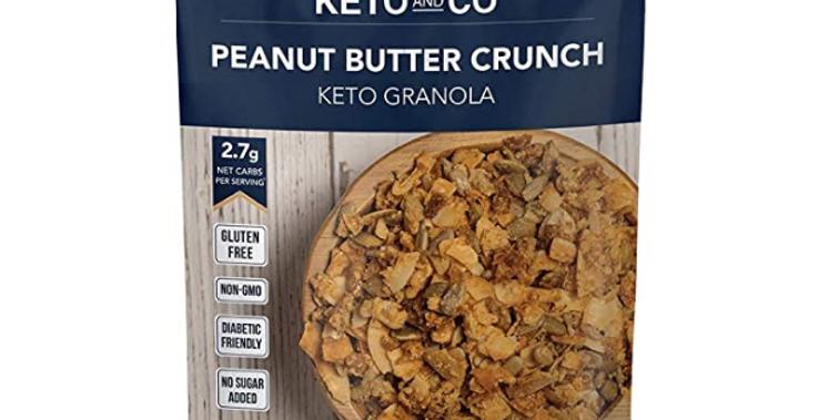 Keto and Co Peanut Butter Crunch Granola - 10 oz - 2.7g Net Carbs