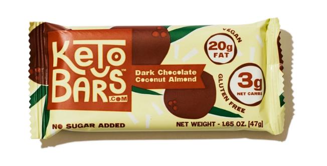 Keto Bars Dark Chocolate Coconut Almond - 1.65 oz - 3g Net Carbs