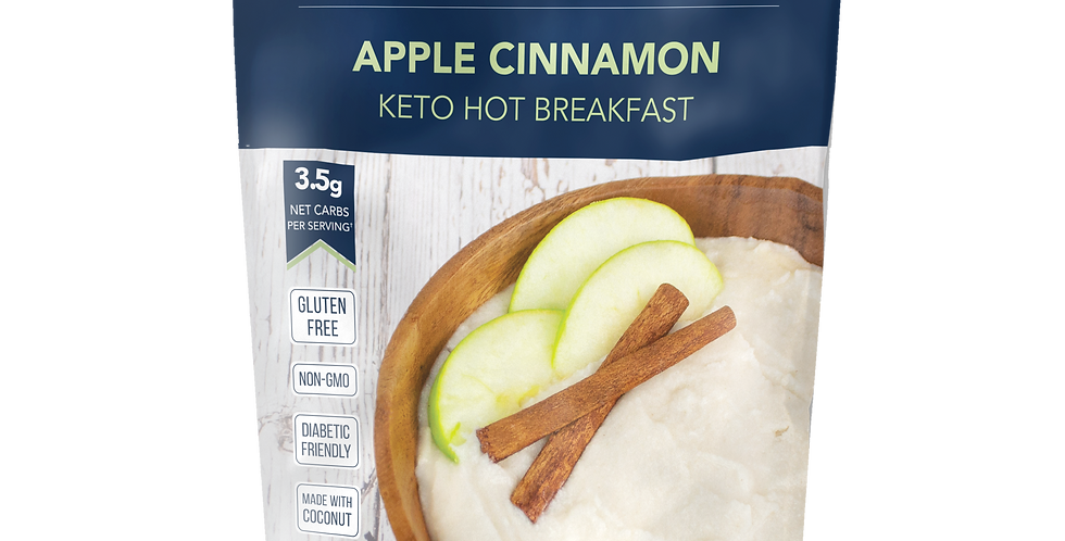 Keto and Co Apple Cinnamon Keto Hot Breakfast - 7.6 oz - 3.5g Net Carbs