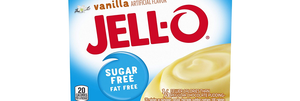 Jell-O Sugar Free Instant Vanilla Pudding - 1 oz - 5g Net Carb