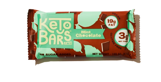 Keto Bars Mint Chocolate - 1.65 oz - 3g Net Carbs