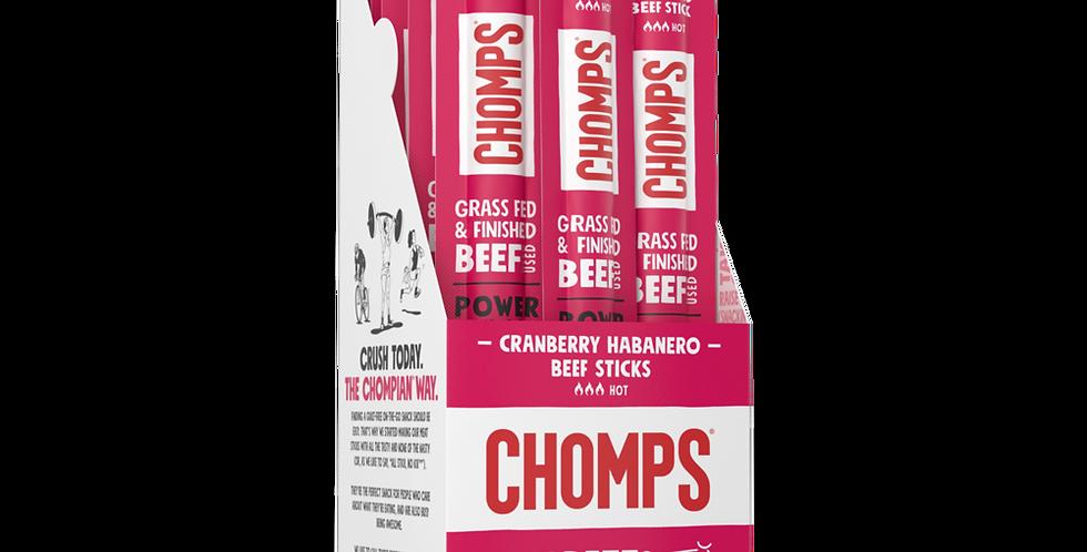 Chomps Cranberry Habanero Beef Jerky Sticks - 1.15 oz - 0 Net Carbs