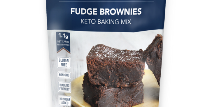 Keto and Co Fudge Brownie Baking Mix - 10.2 oz - 1.1g Net Carbs