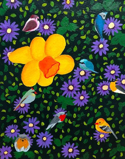 Daffodil and Birds