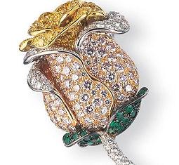carvin french, jewelry making, jewelry manufacturing, jeweler new york, diamond jewelry, diamond brooch