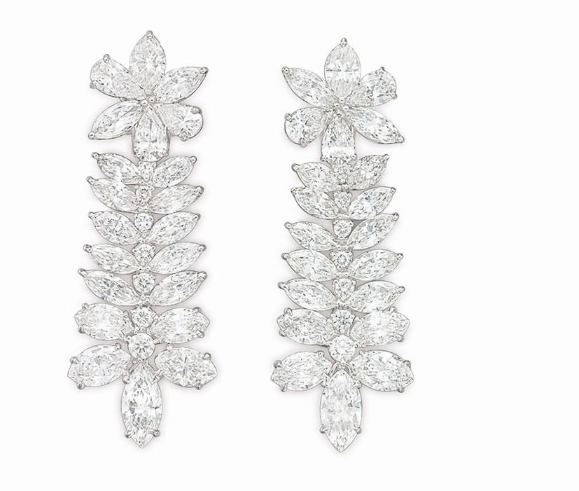 Fancy Shape Diamond Ear Pendants