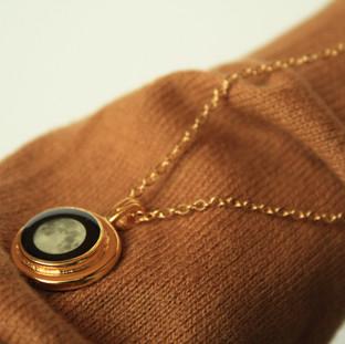 Gold birthmoon necklace