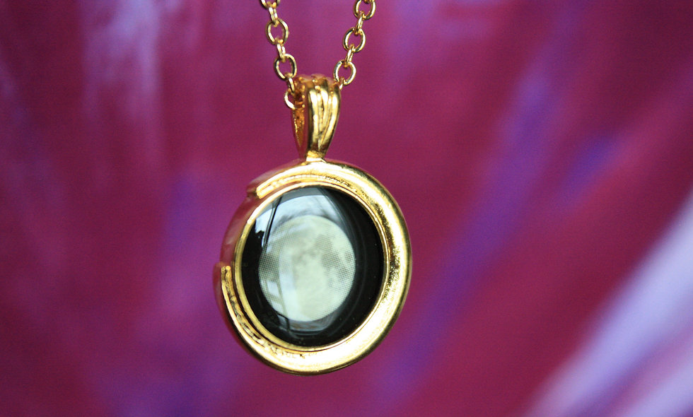 Gold moonglow necklace