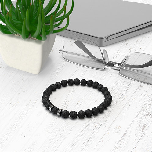 Bracelet diffuseur pierre de lave