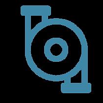 Auspumpung Symbol blau