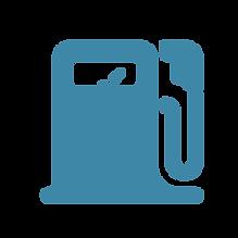 Tankstelle Treibstofftransport blau