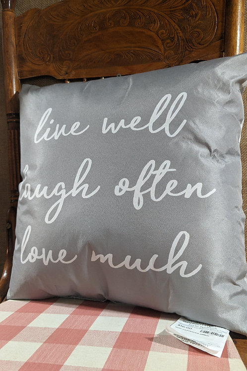 Live well checkered pillow