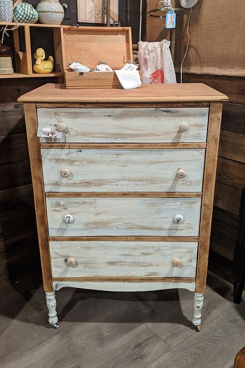 Tallboy french wood and cream dresser