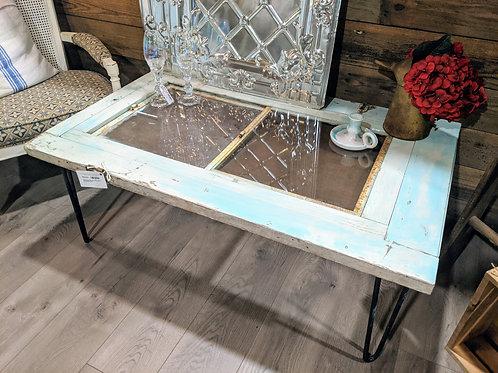 SALE**Very old rustic chippy door coffee table