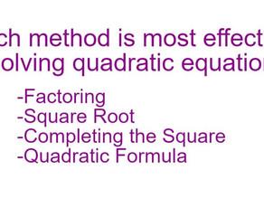 Solve a Quadratic Equation like your Algebra Teacher