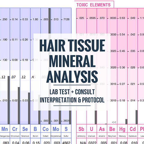 Hair Tissue Mineral Analysis Profile 2 and 30 Minute Consultation