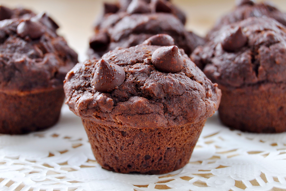 Double chocolate Vegan, Gluten Free Muffins