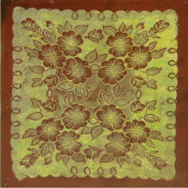 Lace (on rusted steel)